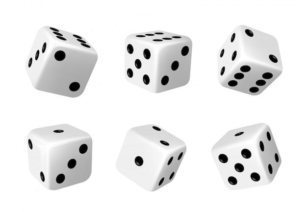 Dados de casino, mueren por juegos de mesa realistas