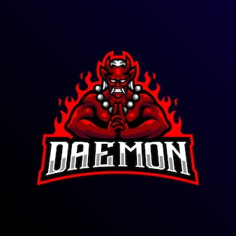 Daemon mascot logo esport gaming