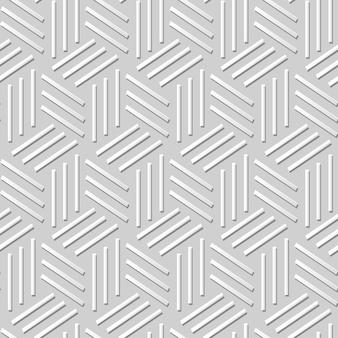 Damasco sin costura arte de papel 3d triángulo espiral línea