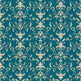 Damasco elemento patrón transparente. adorno de damasco antiguo de lujo clásico