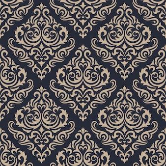 Damasco sin fisuras de fondo. papel tapiz de adorno de lujo clásico.