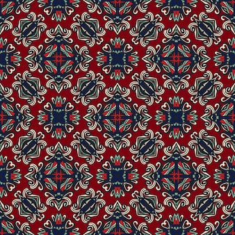 Damasco floral de patrones sin fisuras. estilo boho vintage.