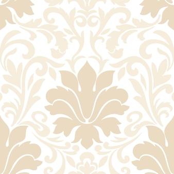 Damasco de patrones sin fisuras. adorno de damasco antiguo de lujo clásico