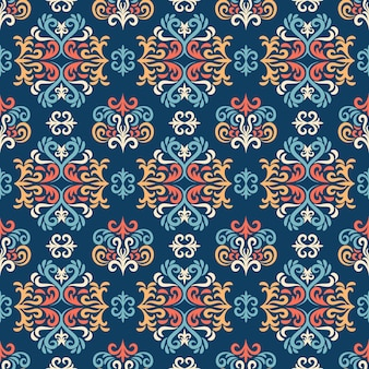 Damasco de patrones sin fisuras, adorno para tela, papel tapiz, embalaje. impresión decorativa