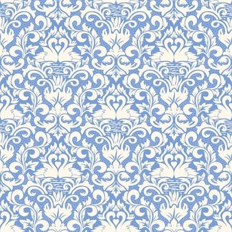 Damasco de trama de fondo sin fisuras. adorno de damasco antiguo de lujo clásico, textura perfecta victoriana real para fondos de pantalla, textil, envoltura. exquisita plantilla barroca floral.