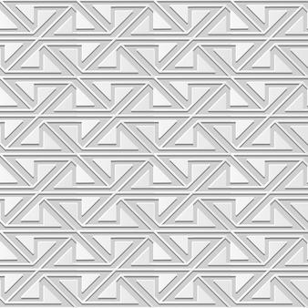 Damasco transparente 3d arte de papel triángulo espiral cruz