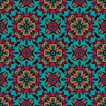 Damasco vector festivo regalo envoltura ornamento de patrones sin fisuras
