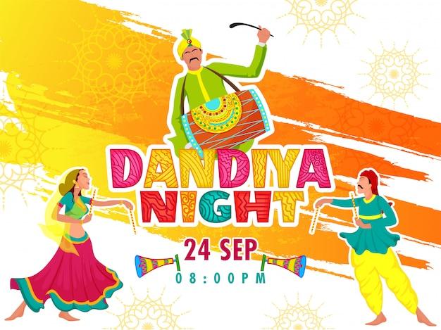 Dandiya night concept.