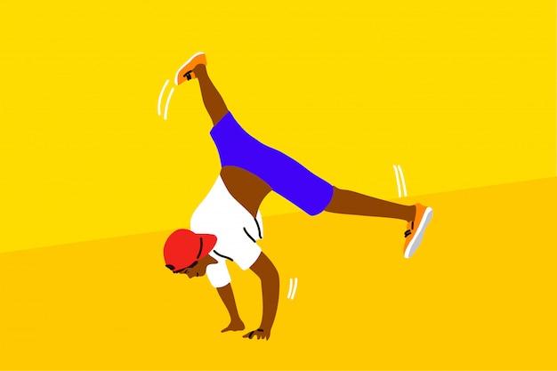Danza, hip hop, deporte, competición, rendimiento, concepto de recreación.