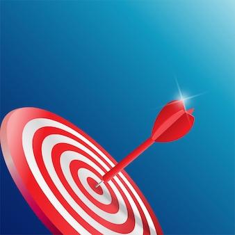 Dardos objetivo. concepto de negocio de éxito