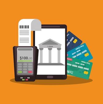 Datáfono del concepto de dinero