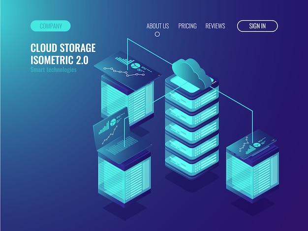 Datos de almacenamiento en la nube, acceso al sistema crm y sincronización del dispositivo