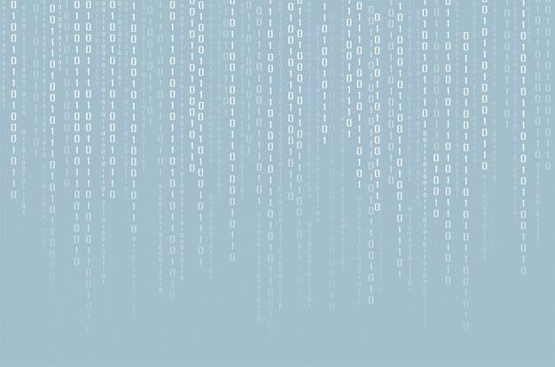 Datos binarios y fondo de código binario de transmisión