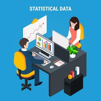 Datos estadísticos isométricos