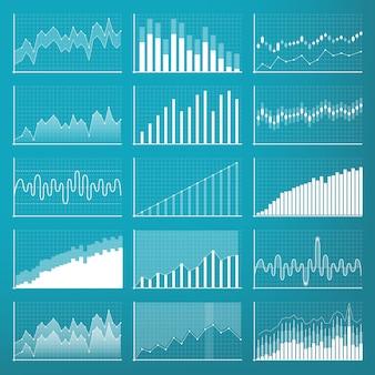 Datos financieros de las empresas. diagrama de finanzas