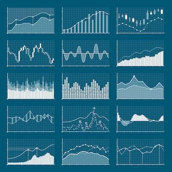 Datos financieros del negocio gráfico