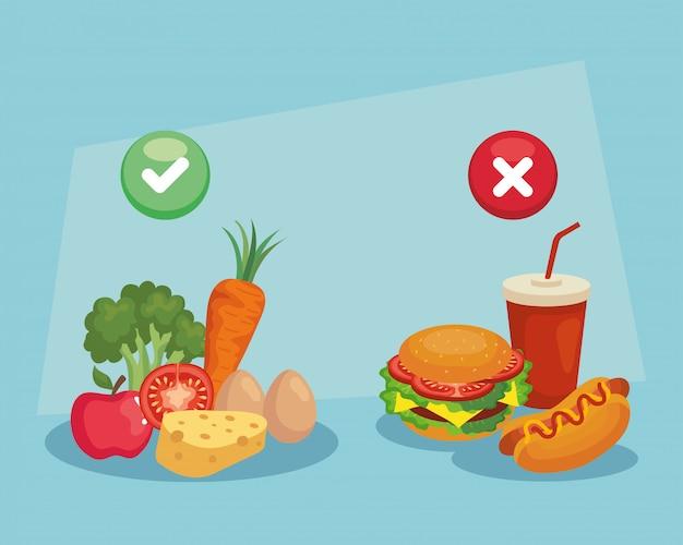 Decide queso de manzana con brócoli en lugar de hamburguesa hot dog