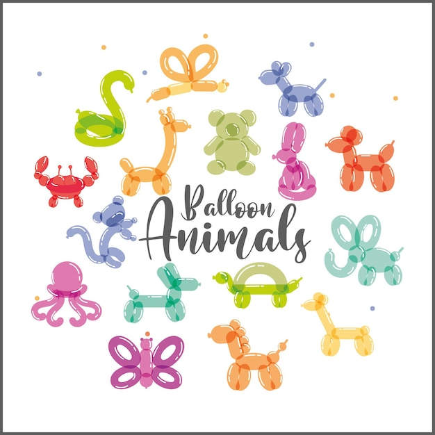 Decoración de animales con globos