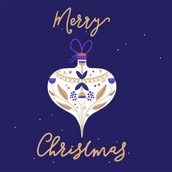 Decoración de bolas navideñas con saludo