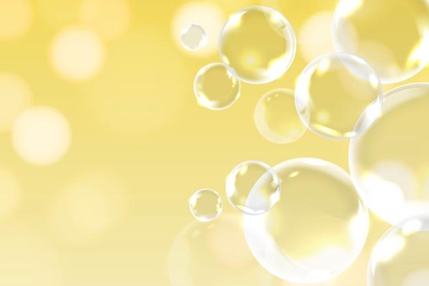Decoración de burbujas de jabón