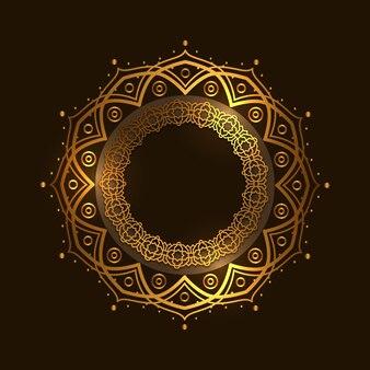 Decoración del círculo dorado