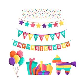 Decoración colorida de cumpleaños