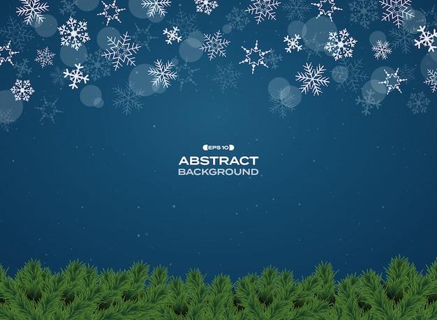 Decoración colorida de las lámparas en fondo azul de la navidad de la pendiente.