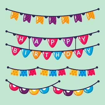 Decoración de cumpleaños con cintas de fiesta