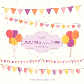 Decoración de cumpleaños de guirnaldas y globos