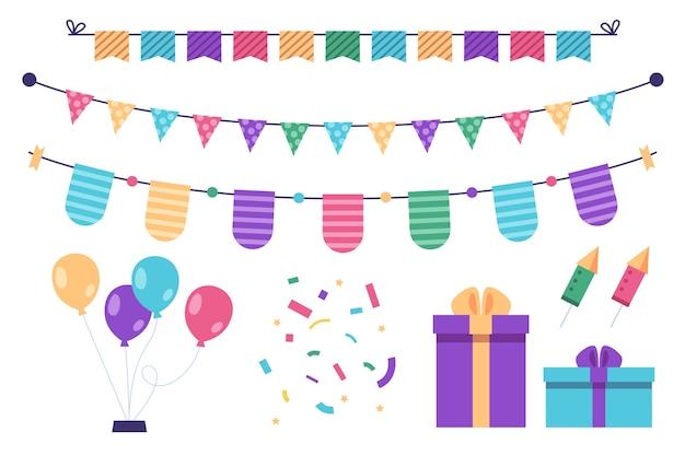 Decoración de cumpleaños con regalos y globos