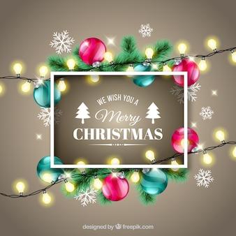 Decoración de navidad con estilo realista