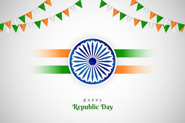 Decoración del día de la república del festival indio