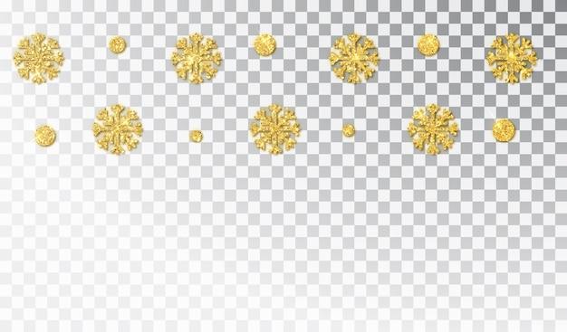 Decoración dorada de navidad aislada
