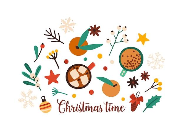 Decoración festiva de navidad