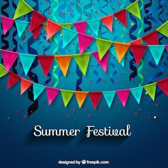 Decoración de festival de verano