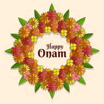Decoración floral onam