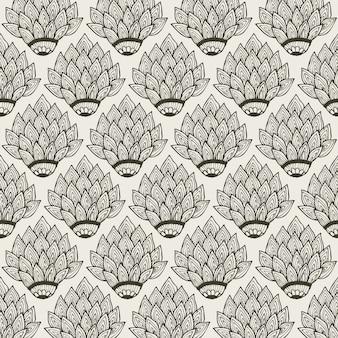 Decoración floral de patrones sin fisuras