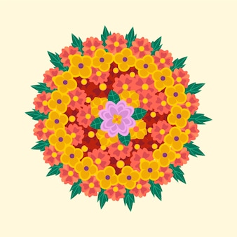 Decoración de flores onam