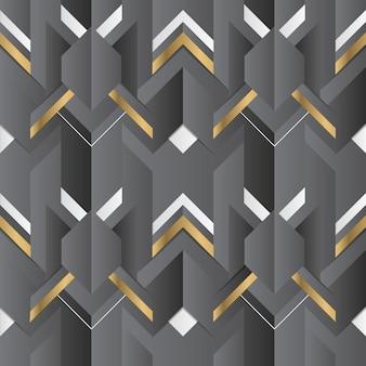 Decoración geométrica abstracta rayas elemento negro y dorado