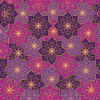 Decoración geométrica de flores.