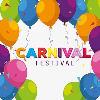 Decoración de globos de festival para celebración de carnaval