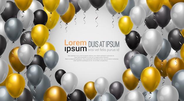 Decoración de globos para la plantilla de marco de fondo fiesta, celebración o evento de evento