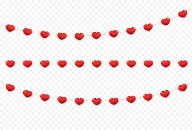 Decoración de guirnalda de corazones.