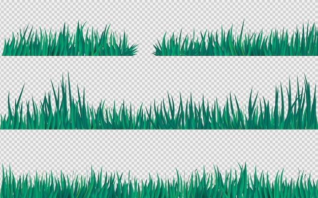 Decoración de hierba verde