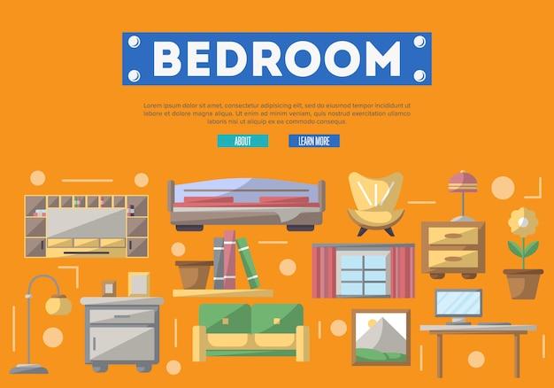 Decoración interior de dormitorios modernos