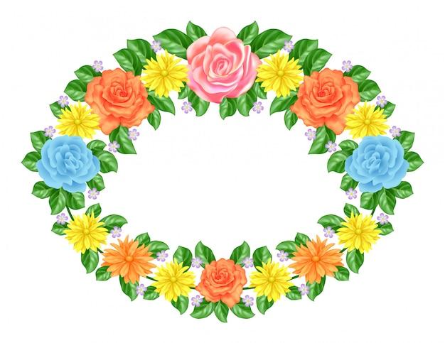 Decoración de marco floral