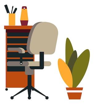 Decoración y muebles de diseño de interiores de peluquería.