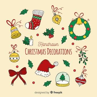 Decoración navidad dibujada a mano