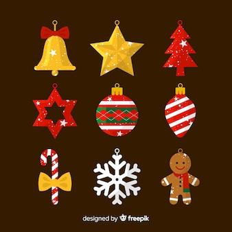 Decoración de navidad en diseño flat