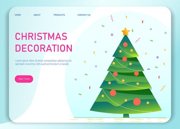 Decoración navideña. fondo de saludo de feliz navidad y próspero año nuevo